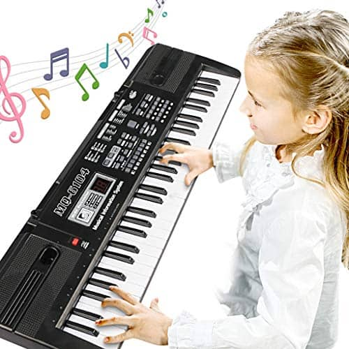 Digital Music Piano Keyboard 61 Key - Portable Electronic Musical Instrument Multi-function Keyboard and Microphone for Kids Piano Music Teaching Toys Birthday Christmas Day Gifts for Kids 2