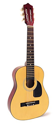 ADM Beginner Classical Guitar 30 Inch Steel Strings Natural Bundle Kit with Gig Bag, Tuner, Strings, Strap, and Picks 5