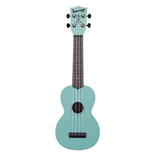 Kala KA-SWB-BK Waterman Soprano Ukulele – Black Matte Bundle with Gig Bag, Tuner, Austin Bazaar Instructional DVD, and Polishing Cloth