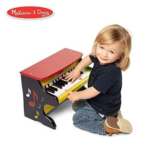 "Melissa & Doug Learn-to-Play Classic Grand Piano (Mini Keyboard with 30 Hand-Tuned Keys, Non-Tipping Bench, Materials, 23.65"" H x 21.4"" W x 10.05"" L) 4"