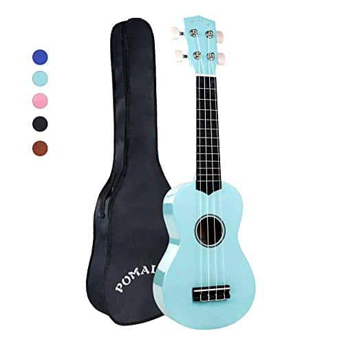 Soprano Ukulele Beginner Pack-21 Inch w/Rainbow String Gig Bag Fast Learn Songbook Digital Tuner All in One Kit 13