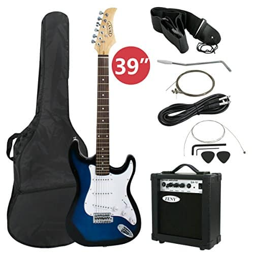 """LyxPro Electric Guitar 39"""" inch Complete Beginner Starter kit Pack Full Size with 20w Amp, Package Includes All Accessories, Digital Tuner, Strings, Picks, Tremolo Bar, Shoulder Strap, and Case Bag 5"""