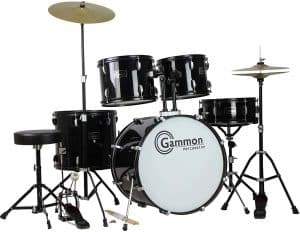 Gammon Percussion Full Size Complete Adult 5 Piece Drum Set (1)